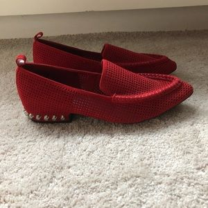 Women's Jeffery Campbell Suede Studded Loafer